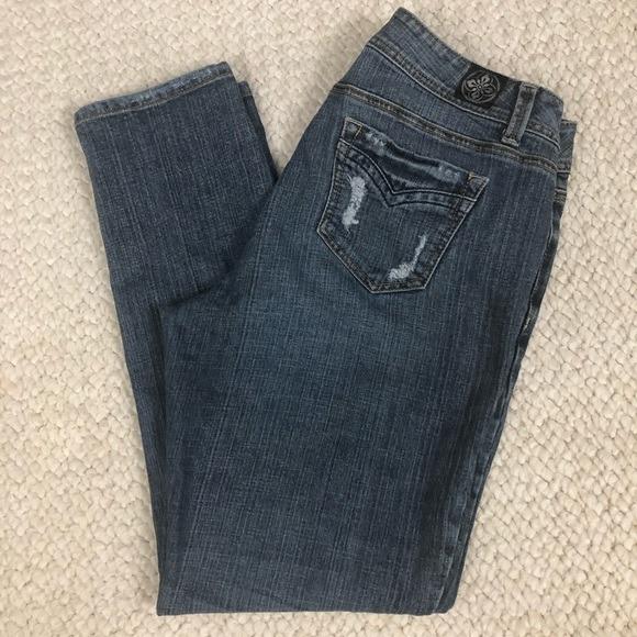 Lane Bryant | Distressed Light Wash Jeans