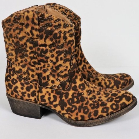 Matisse | Western-Style Leopard Zip Ankle Boot