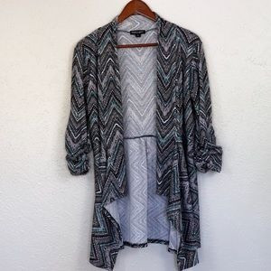 Herringbone Cardigan w/ scrunched sleeves