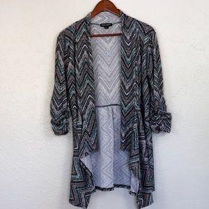Herringbone Cardigan w/ scrunched sleeves