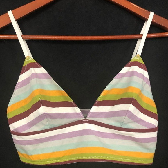 Madewell | Kealy Longline Bralette Rainbow Stripe